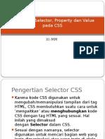 Pengertian Selector, Property Dan Value Pada CSS 1