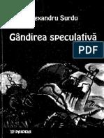 Alexandru Surdu - Gandirea speculativa.pdf
