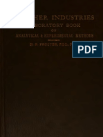 Leather Industries Laboratory Book of Analytical and Experimental Methods - H. R. Procter 1908