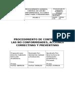 Proced. No Conformidades y Acciones Correctivas ISO 9001 B 32944