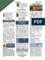 October 30, 2016 Bulletin
