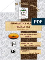 Informatics Practices airline reservation system