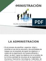 1. Diapositivas La Administración