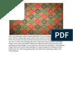 Batik Asli Pekalongan Terkenal Dengan Istilah Batik Pesisir Kaya Akan Warna