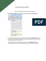 Menyisikan Excel Ke Dalam Word