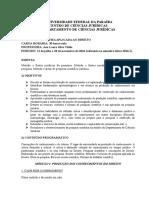 Plano de Disciplina_pesquisa Aplicada Ao Direito 2016.1