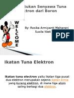 Pembentukan Senyawa Tuna Elektron Dari Boron