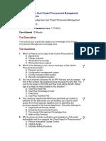 09 - Knowledge Area Quiz Project Procurement Management