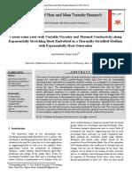 4 artigo Casson Fluid Flow with Variable Viscosity and Thermal Conductivity along.pdf