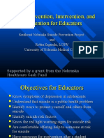 Suicide Prevention, Intervention, and Postvention for Educators (Educator Module 80