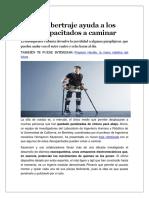 Un Cibertraje Ayuda a Los Discapacitados a Caminar