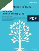 Igcse Human Biology 2017 Spec