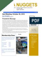October 2016 Newletter