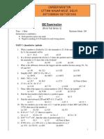 SSC CHSL Mock Test 3