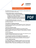 10 Best Practices Online Communication
