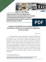 Fortes,A. O Impacto Da Segunda Guerra Mundial Sobre as Identidades Coletivas Dos Trabalhadores Imigrantes Em Porto Alegre