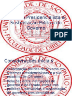 Sistema Presidencialista e Sustentação Política do Governo