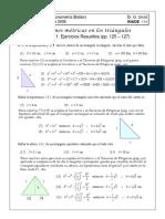 Ejercicios Resueltos de Teoremas de Pitagoras 1