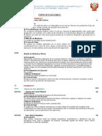 2.-Especificaciones Técnicas para Carreteras