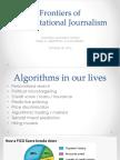 Computational Journalism 2016 Week 7