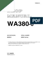 SM WA380-6 H60051-UP VEBM440101