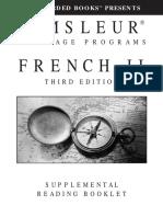 Pimsleur French Transcript Ebook