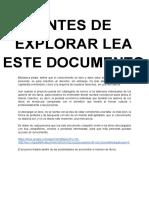Antes de Explorar Lea Este Documento