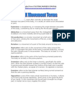 NCLEX Movement Terms