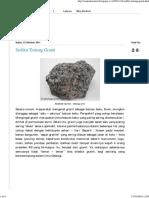 Sekilas Granit