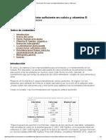 Técnica de Cómo Hacer Una Dieta Suficiente en Calcio y Vitamina D 2012
