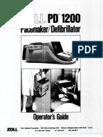 Desfibrilador Zoll 1200 Op