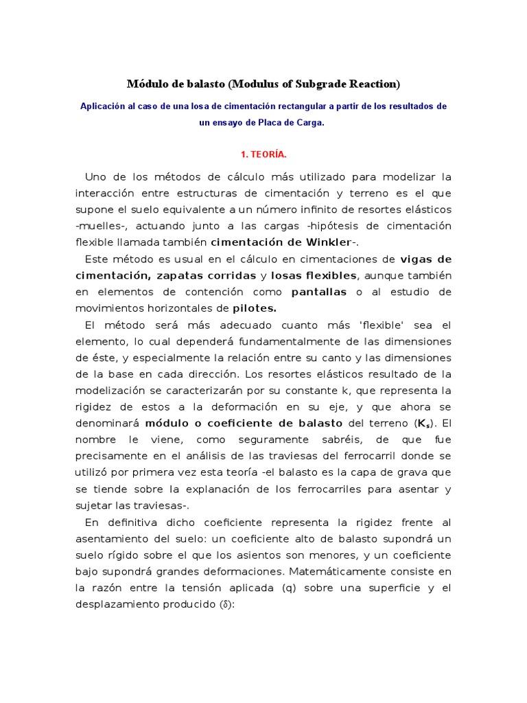 Modulo De Balasto