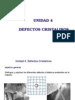 04 Imperfecciones e Los Materiales Defectos Lineales y Superficiales