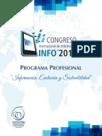 Programa Profesional XIV Congreso Internacional de Información Info2016