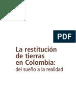 Balance La Restitución de Tierras en Colombia, Unidad de Tierras, 7 de Abril de 2015