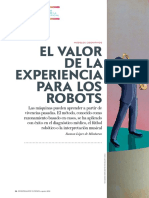 El Valor de La Experiencia Para Los Robots