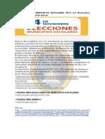 Elecciones de Municipios Escolares 2014