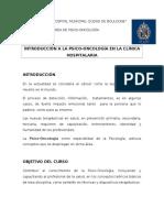 Programa Curso Psico-Oncología 2016