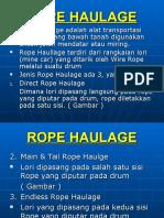 Rope Haulage
