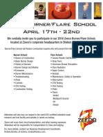 Burner Flare School E-Vite