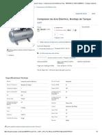 GAST Compresor de Aire Eléctrico,Montaje de Tanque - Compresores de Aire Eléctricos Fijos - 5Z675_5HCD-100TA-M550NGX - Grainger Industrial Supply