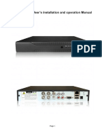 T Series DVR User's Installation and Operation Manual-201107