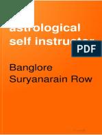 The Astrological Self Instructor - B Suryanarain Rao 1893