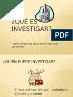 ¿Que Es Investigar