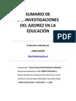 DR. ROBERT FERGUSON JR. Sumario de Las Investigaciones Del Ajedrez en La Educaci_n en Espa_ol