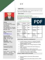 Debajit's Resume 2003