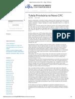 Tutela Provisória No Novo CPC — Blog - CPCNovo