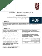 Normalización y Calibración de Medidores de Flujo
