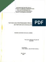 Estudo das Propriedades Físico-Químicas e de Textura de Chocolates