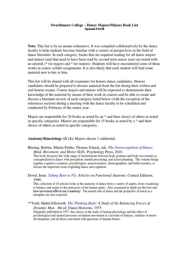 Dance Reading List 2010 Dances Ethnicity Race Gender